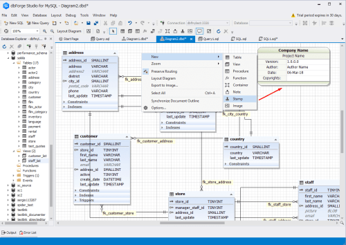 small resolution of besides the database schema itself you can place sketches of new objects onto the database designer for mysql surface link any external documents to it