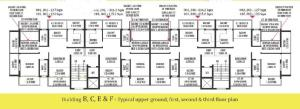 Devashri Royale_Build B,C,E & F Upper Ground, First, Second & Third Floor Plan