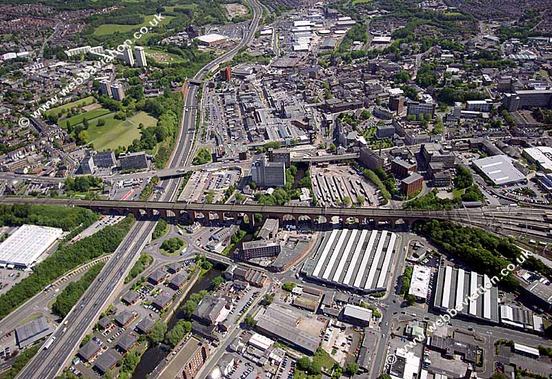 A birds eye view of Stockport