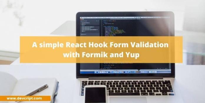 React Hook Form Validation with Formik and Yup