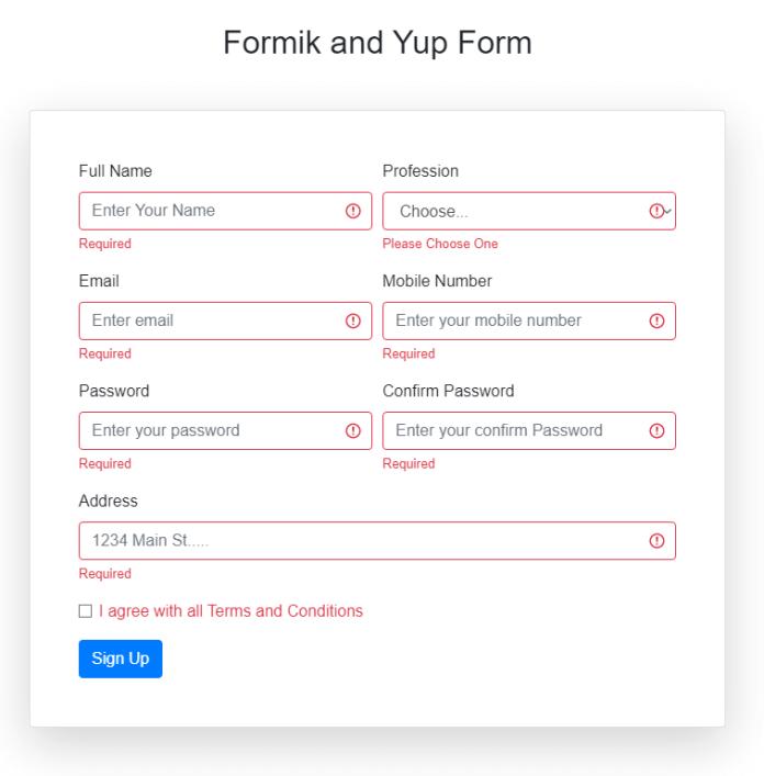 formik validation