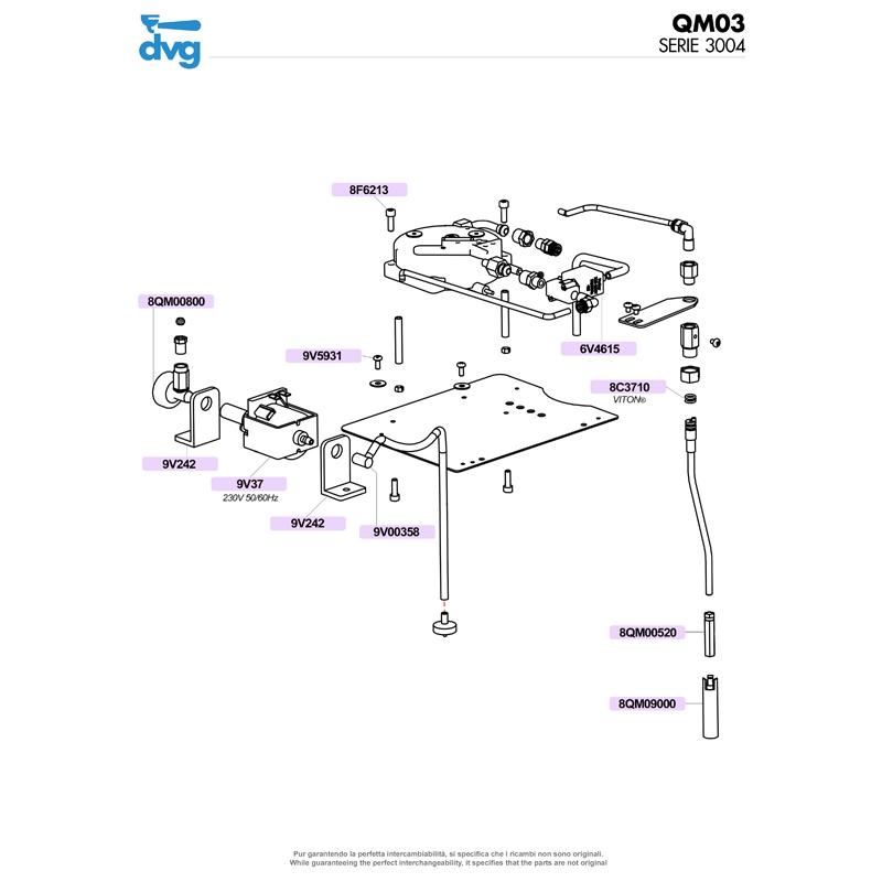 VIBRATORY PUMP ULKA EP5 220V 50/60Hz PLASTIC OUTLET