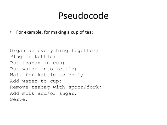 introduction au pseudocode