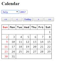 Calendar Code javascript For form using php