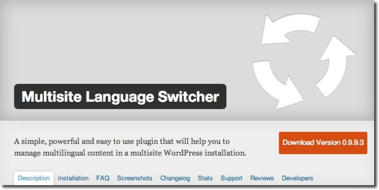 WordPress Plugin For multilingual WordPress website - Multisite-Language-Switcher