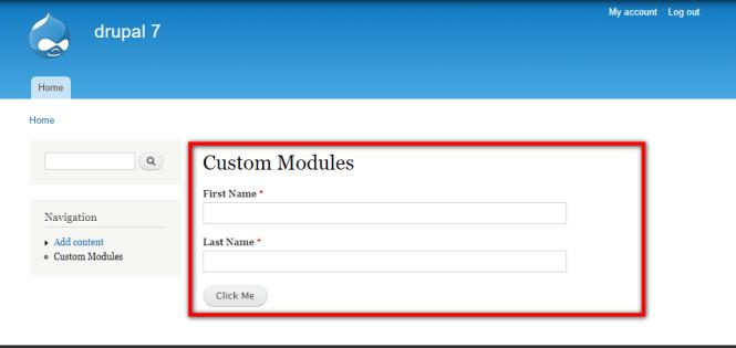 Custom Form Modules