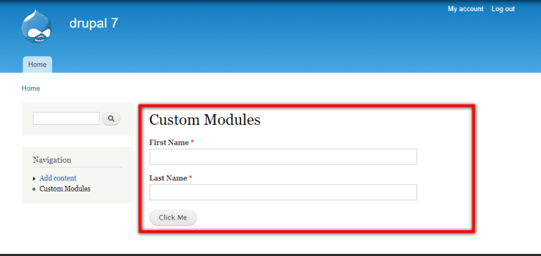 Custom Form Modules