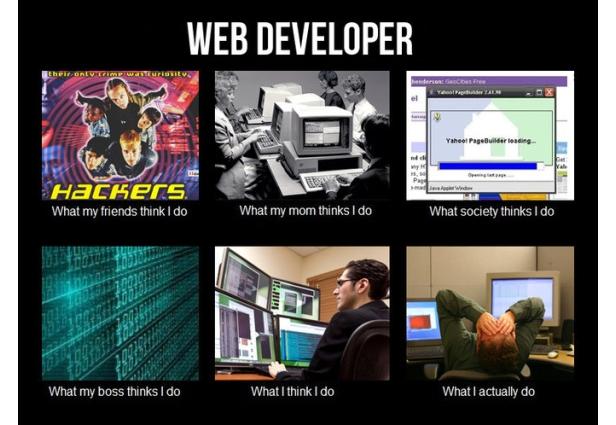Web Developer What I Actually Do Meme Developer Memes