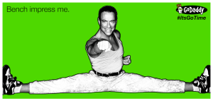 Bench impress me Jean Claude Van Damme Its Go Time Godaddy Meme