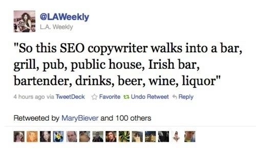 SEO Copywriter Walks Into A Bar Meme