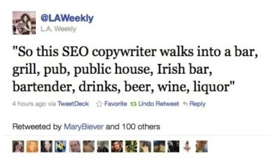 SEO Copywriter Walks Into A Bar Meme