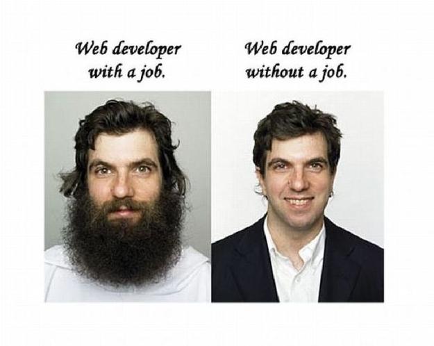 Web Developer With A Job Web Developer Without A Job Meme