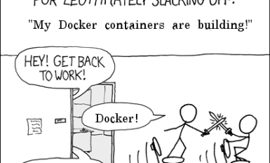 Slacking Off Excuse is Docker Containers Are Building Meme