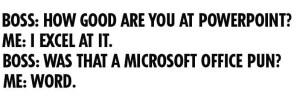 Microsoft Office Pun Meme