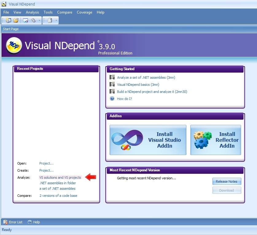 Evaluating NDepend Professional