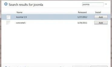 Joomla 2.5 with Microsoft SQL Server support