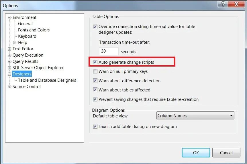 Auto generate change scripts in SQL Server Management Studio - 2