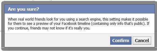 How to prevent your Facebook Profile timeline being indexed in Search Engines?