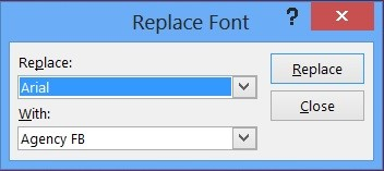How to Quickly Change Font Family in Slides in PowerPoint 2013?