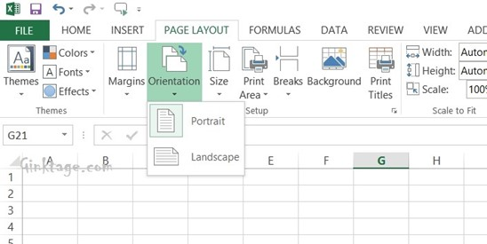 How to Change Page Orientation of a Spreadsheet in Microsoft Excel 2013?