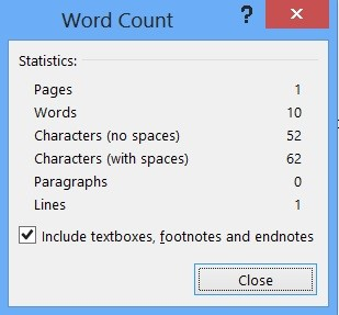Word 2013 - How to Get the Number of Words, Characters, Lines and Pages from Word Document?