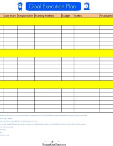 Download this free goal execution form also setting worksheets  forms templates and ideas to rh developgoodhabits