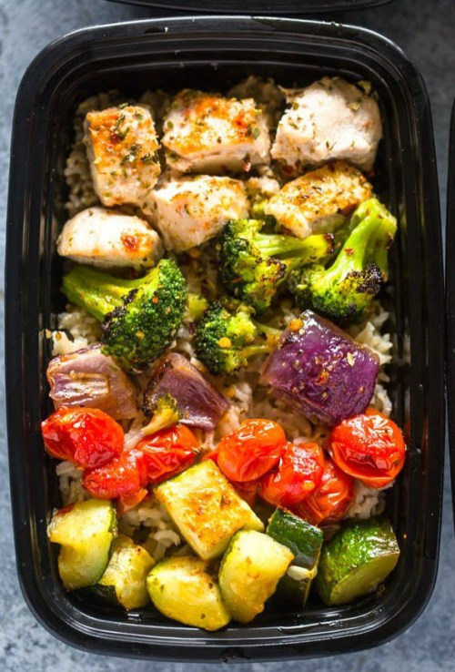 Preparing healthy freezer meals for a month? Include some Roasted Chicken and Veggies.