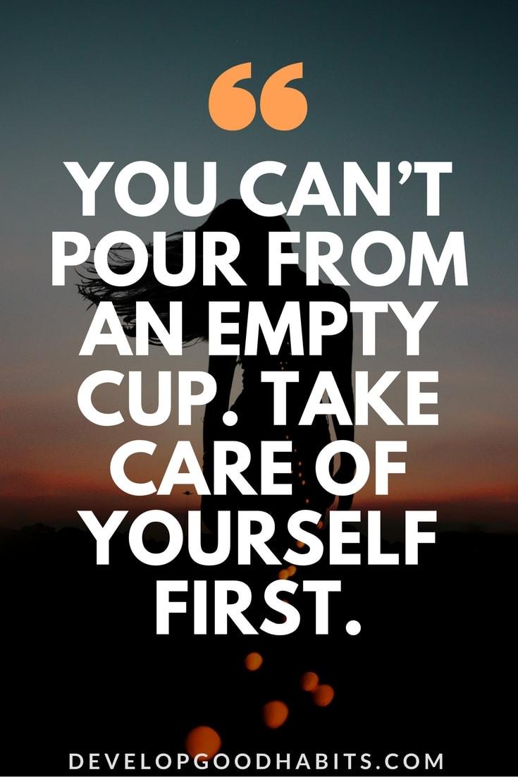 Stop ignoring self-care
