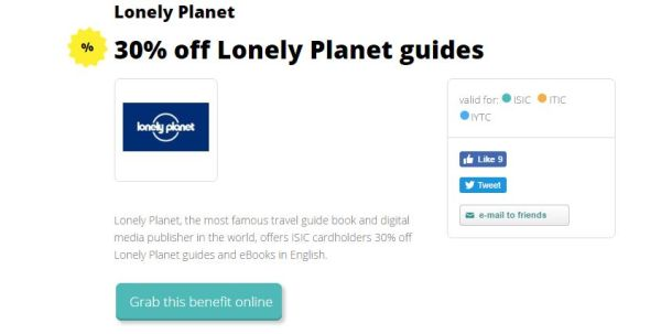 Get 30% off Lonely Planet Guides