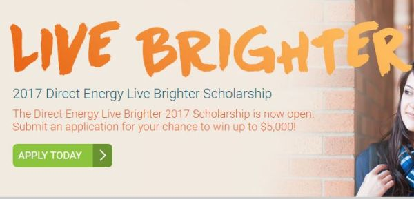 Direct Energy Live Brighter Scholarship