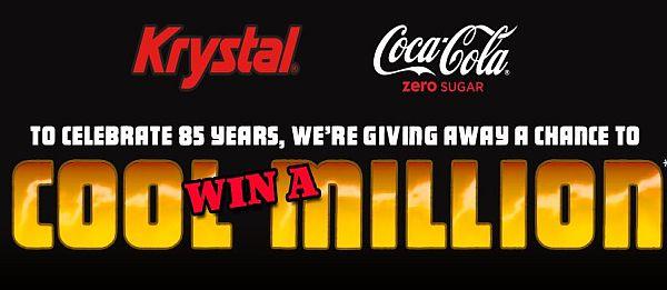 Krystal's 85th Birthday with Coke Zero Sugar Sweepstakes