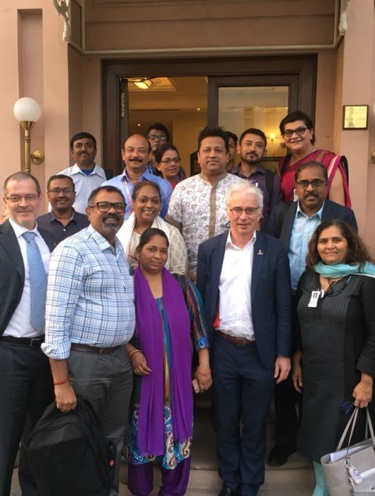 Indian Civil Society Building Bridges with Global Fund's Peter Sands