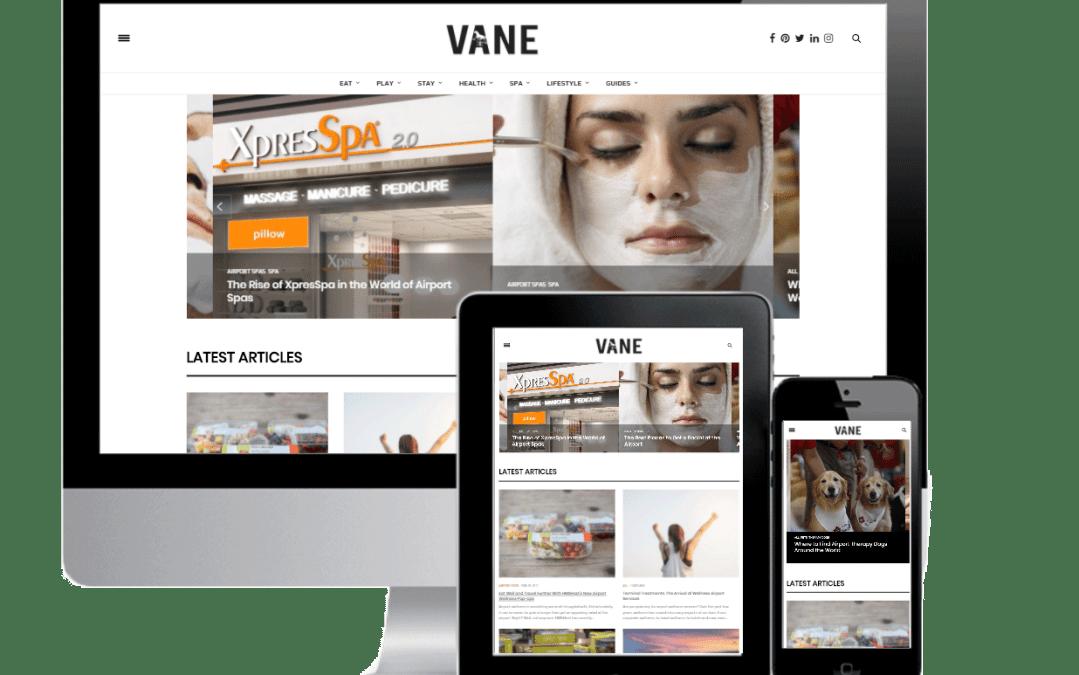 Magazine Vaneairport Website