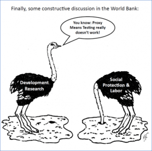 The debate in the World Bank on the Proxy Means Test hots