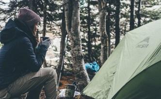 Dans un camping
