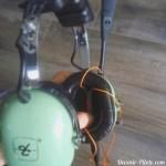 kit main libre dans casque avion david clark enregistrement communication radio