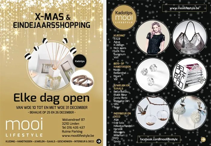 flyer xmas shopping mooi lifestyle