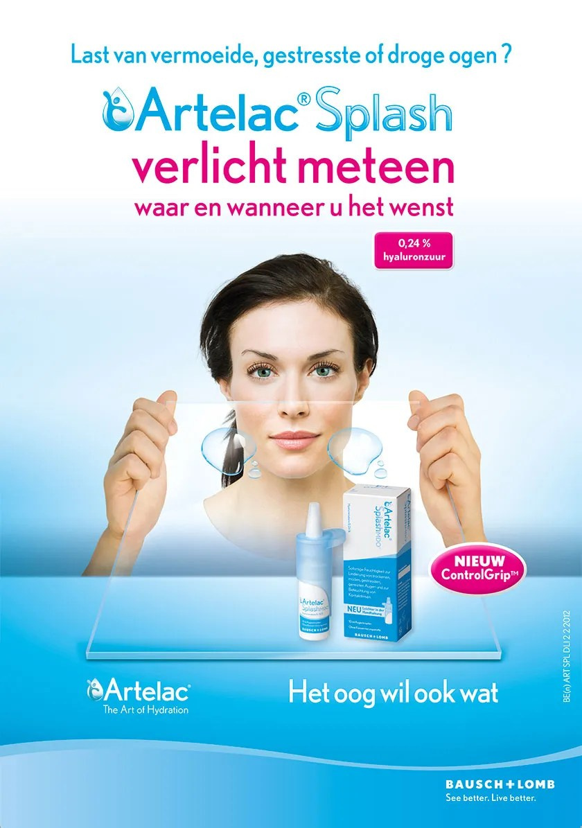 advertentie Artelac Splash