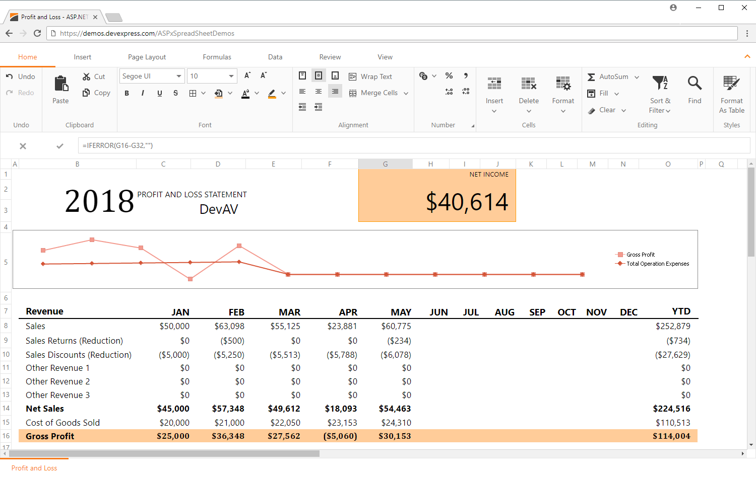 Spreadsheet Ui Component For Winforms Wpf Asp Mvc Html5 Javascript And Vcl