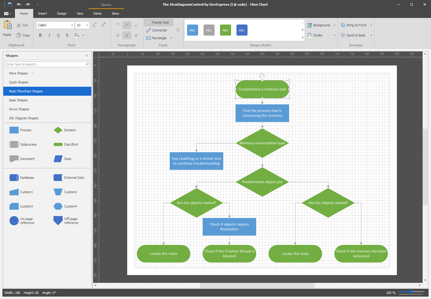 visual studio view class diagram electron dot of iodine winforms flowchart orgchart control devexpress