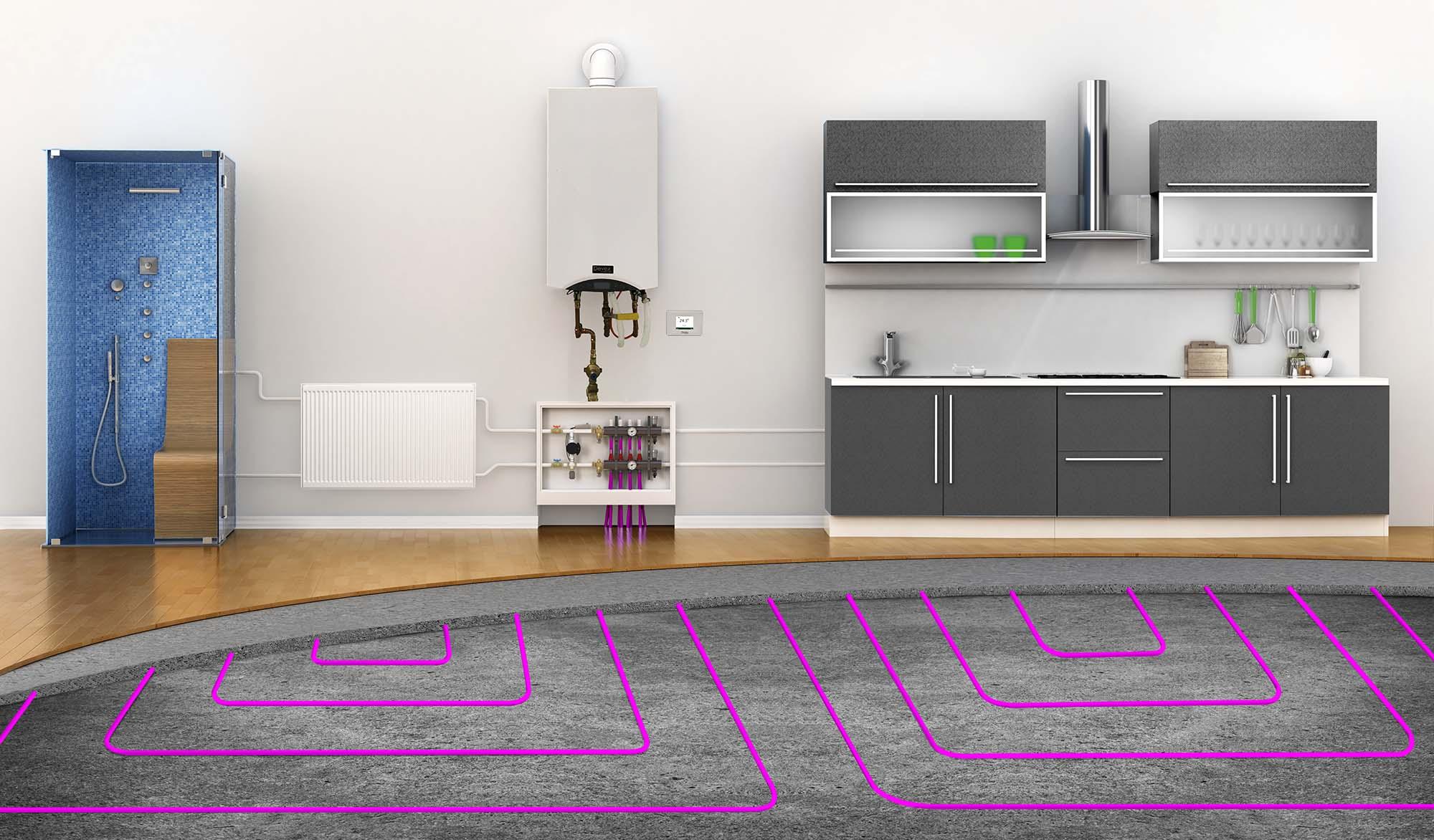 hight resolution of hydronic floor heating