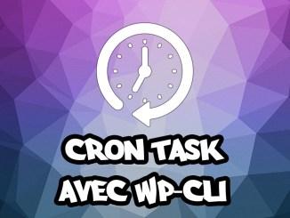 Remplacer le cron de Wordpress par une cron task WP-Cli