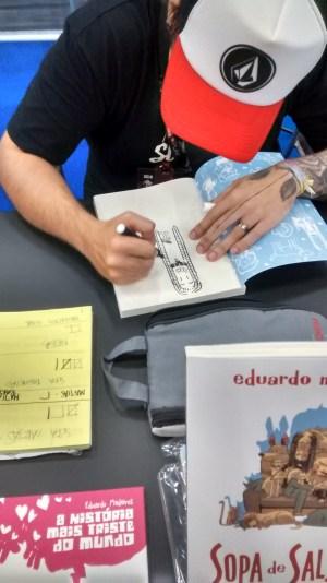 Ganhando um autografo!