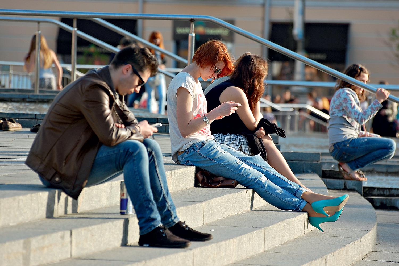 A postura no uso do celular