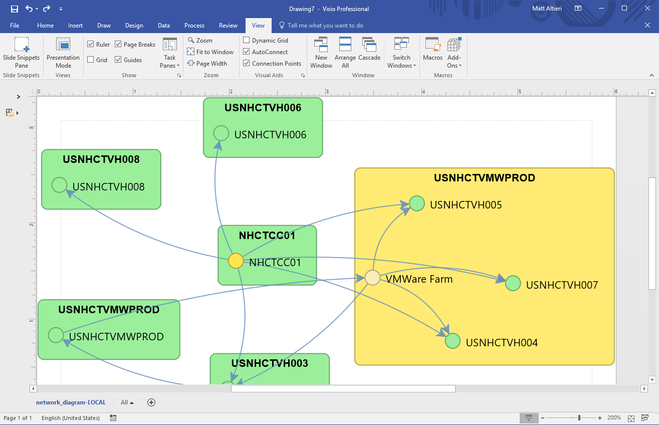hight resolution of your device42 topology is now available in microsoft visio