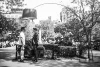 Photographer Gianluca Vassallo Uses A Gargantuan Lamp To Unite Perfect Strangers