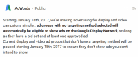 Google Announces Critical Changes to Display & Video Ad Group Targeting