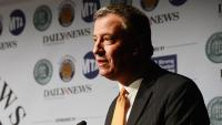 """NYC Mayor Defends Police Body Camera Buy, Decrying A Competitor's """"Smear"""" Campaign"""