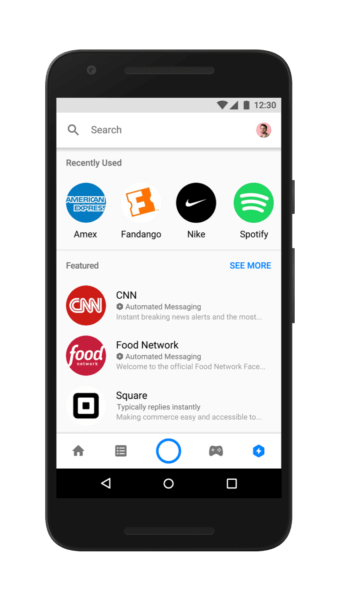 Facebook's Messenger officially debuts Discover tab to highlight chatbots, businesses