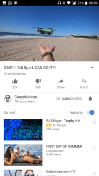 YouTube is testing live viewer counts on mobile